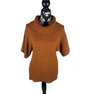 Coldwater Creek Sweater Turtleneck Short Sleeve